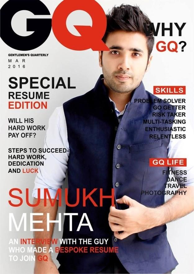 Op de cover CV